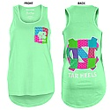 Juniors' Faux-Pocket Patchwork Tank (Island Reef Green)