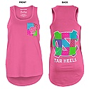 Juniors' Faux-Pocket Patchwork Tank (Neon Pink)