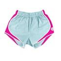 Juniors' Seersucker Southern Belle Shorts (CB/Pink)