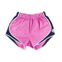 Juniors' Seersucker Southern Belle Shorts (Pink/Navy)
