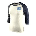 Nike Ladies' 3/4-Sleeve Strong Side Raglan T (Natural)