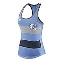 Nike Ladies' Team Stripe Tank (CB Heather/Grey/Navy)