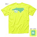 Aztec State Faux Pocket T (Neon Yellow)
