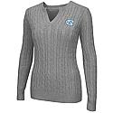 Juniors' Alma Mater Cable Knit Sweater (Grey)