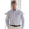L/S Poplin Box Plaid Shirt (White/Blue)