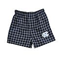Youth Gridiron Flannel Boxers (Navy Plaid)