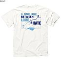 Fine Line Between Love & Hate T (White)