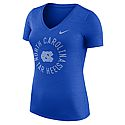 Nike Ladies' Dri-FIT Touch V-Neck T (Blue Heather)
