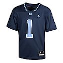 Youth #1 Game Replica Jumpman Football Jersey (Navy)