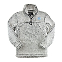 Youth Girls' Sherpa 1/4-Zip Pullover (Grey)